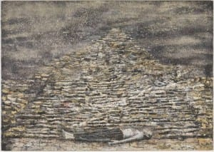 Man under a Pyramid 1996 by Anselm Kiefer born 1945